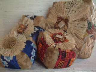 Lauhala gift baskets from Hawaii