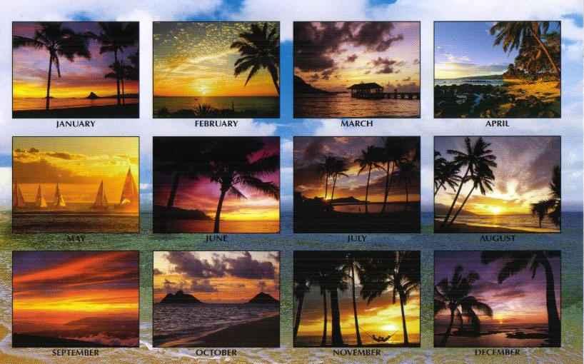 Kauai Calendar June : Hawaiian calendar sunrises sunsets